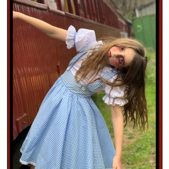 Zombie Dorothy on a train to nowhere